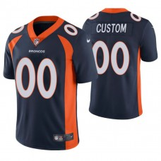 Denver Broncos Navy Vapor Untouchable Limited Player Customized Jersey