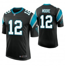 Carolina Panthers #12 D. J. Moore Black Vapor Untouchable Limited Player Jersey