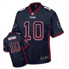 Houston Texans #10 DeAndre Hopkins Navy Blue Drift Fashion Jersey