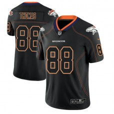 Denver Broncos #88 Demaryius Thomas 2018 Lights Out Color Rush Limited Black Jersey