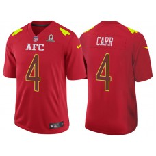 2017 Pro Bowl AFC Derek Carr Red Game Jersey