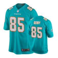 Miami Dolphins #85 A. J. Derby Aqua New 2018 Game Jersey