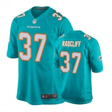 Youth Miami Dolphins #37 Brandon Radcliff Aqua New 2018 Game Jersey