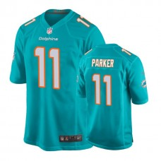 Youth Miami Dolphins #11 DeVante Parker Aqua New 2018 Game Jersey