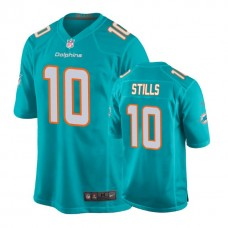 Youth Miami Dolphins #10 Kenny Stills Aqua New 2018 Game Jersey