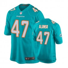 Youth Miami Dolphins #47 Kiko Alonso Aqua New 2018 Game Jersey