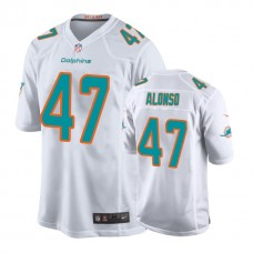 Youth Miami Dolphins #47 Kiko Alonso White New 2018 Game Jersey