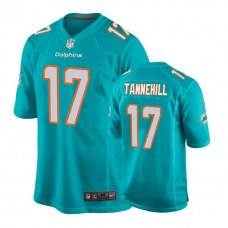 Youth Miami Dolphins #17 Ryan Tannehill Aqua New 2018 Game Jersey