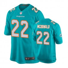 Youth Miami Dolphins #22 T. J. McDonald Aqua New 2018 Game Jersey