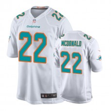 Youth Miami Dolphins #22 T. J. McDonald White New 2018 Game Jersey