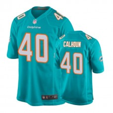 Youth Miami Dolphins #40 Taveze Calhoun Aqua New 2018 Game Jersey