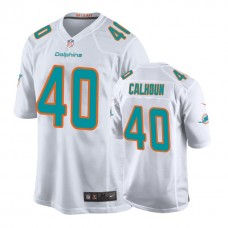 Youth Miami Dolphins #40 Taveze Calhoun White New 2018 Game Jersey