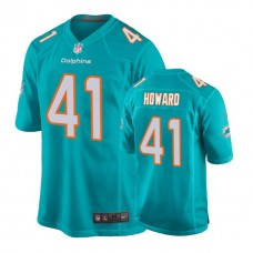 Youth Miami Dolphins #41 Tracy Howard Aqua New 2018 Game Jersey