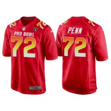 2018 Pro Bowl AFC Oakland Raiders #72 Donald Penn Red Game Jersey