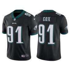 2017 Philadelphia Eagles #91 Fletcher Cox Black Vapor Untouchable Limited Jersey