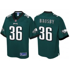 Youth Philadelphia Eagles #36 DeVante Bausby Green Pro Line Jersey