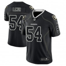 Oakland Raiders #54 Emmanuel Lamur 2018 Lights Out Color Rush Limited Black Jersey