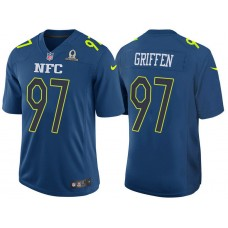 2017 Pro Bowl NFC Everson Griffen Blue Game Jersey