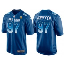 2018 Pro Bowl NFC Minnesota Vikings #97 Everson Griffen Royal Game Jersey