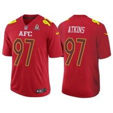2017 Pro Bowl AFC Geno Atkins Red Game Jersey