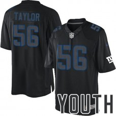 Youth New York Giants #56 Lawrence Taylor Black Impact Limited Jersey