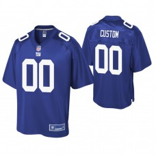 Youth New York Giants Pro Line Royal Customized Jersey