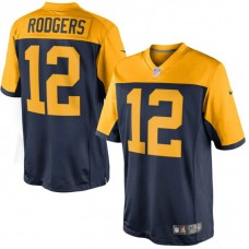 Green Bay Packers #12 Aaron Rodgers Navy Limited Jersey