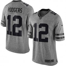 Green Bay Packers #12 Aaron Rodgers Gridiron Gray Limited Jersey