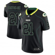 Green Bay Packers #21 Ha'Sean Clinton-Dix 2018 Lights Out Color Rush Limited Black Jersey