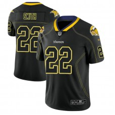 Minnesota Vikings #22 Harrison Smith 2018 Lights Out Color Rush Limited Black Jersey