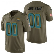 Jacksonville Jaguars Olive 2017 Salute to Service Limited Customized Jersey