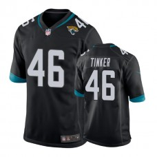 Youth Jacksonville Jaguars #46 Carson Tinker Black New 2018 Game Jersey