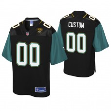 Youth Jacksonville Jaguars Pro Line Player Black Customized Jersey