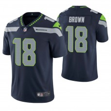 Seattle Seahawks #18 Jaron Brown Navy Vapor Untouchable Limited Jersey