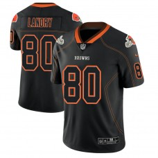 Cleveland Browns #80 Jarvis Landry 2018 Lights Out Color Rush Limited Black Jersey