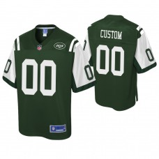 Youth New York Jets Pro Line Green Customized Jersey