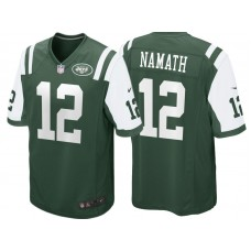 New York Jets #12 Joe Namath Green Retired Player Game Jersey