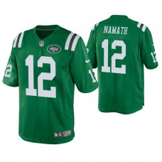 New York Jets #12 Joe Namath Green Color Rush Legend Jersey