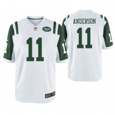 New York Jets #11 Robby Anderson White Game Jersey