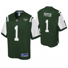 Youth New York Jets #1 Terrelle Pryor Pro Line Green Jersey