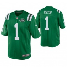 New York Jets #1 Terrelle Pryor Green Color Rush Legend Jersey