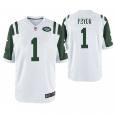 New York Jets #1 Terrelle Pryor White Game Jersey