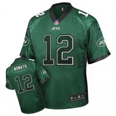 New York Jets #12 Joe Namath Green Drift Fashion Jersey