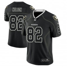 Oakland Raiders #82 Jordy Nelson 2018 Lights Out Color Rush Limited Black Jersey