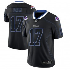 Buffalo Bills #17 Josh Allen 2018 Lights Out Color Rush Limited Black Jersey