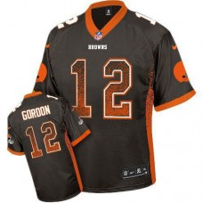 Cleveland Browns #12 Josh Gordon Brown Drift Fashion Jersey