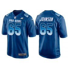 2018 Pro Bowl NFC Philadelphia Eagles #65 Lane Johnson Royal Game Jersey