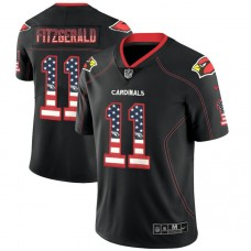 Arizona Cardinals #11 Larry Fitzgerald Black 2018 USA Flag Fashion Color Rush Limited Jersey