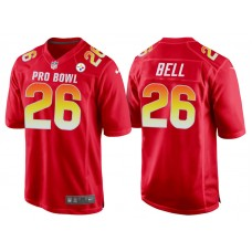 2018 Pro Bowl AFC Pittsburgh Steelers #26 Le'Veon Bell Red Game Jersey