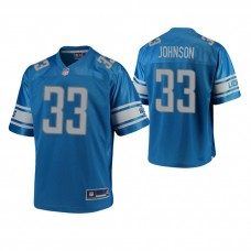 Youth Detroit Lions #33 Kerryon Johnson Blue Player Pro Line Jersey